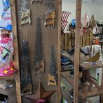 Folk Art saws & metal work - Yorktown Feed & Seed - Virginia